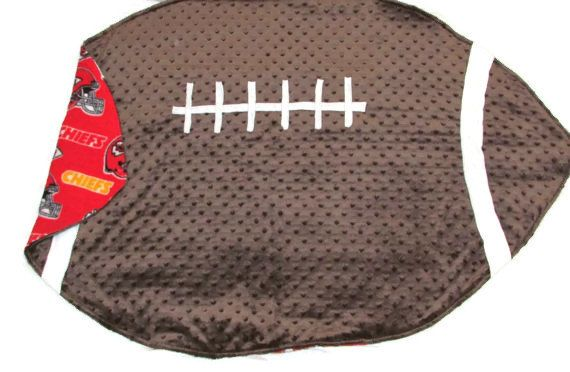 Kansas City Chiefs Minky and Fleece Football Blanket, NFL, Baby Boy Girl, Gender Neutral, Toddler, Custom Personalized, Super Bowl on Etsy, $55.00