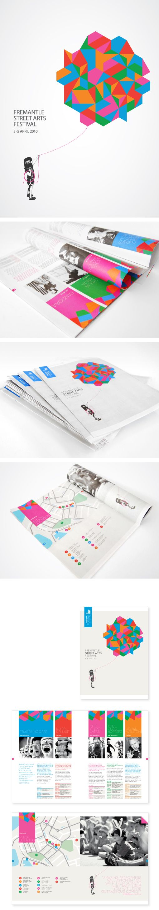 City of Fremantle Street Arts Festival by Nude Design Studio , via Behance