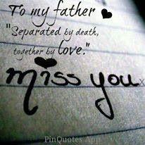 I miss my dad!