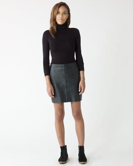 Leather Mini Skirt #JigsawAW14
