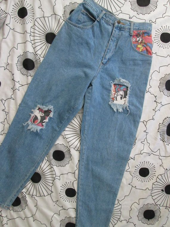 Vintage Mickey & Co High Waisted 90s Denim Pants Jeans by CANDYPANTSclothing, $40.00