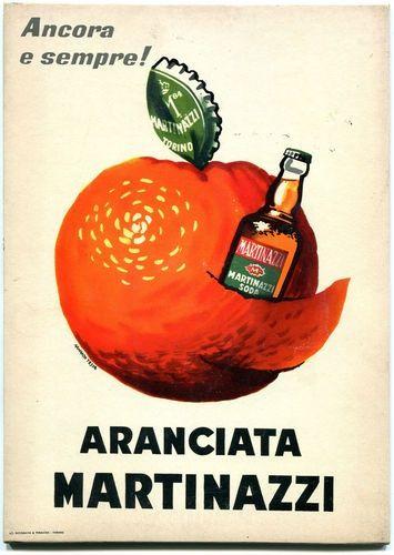 Vintage Italian Posters ~ #illustrator #Italian #posters ~ Aranciata Martinazzi - 1950