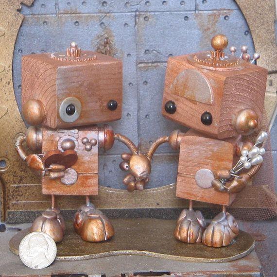 Steampunk Robots Cake Topper 15