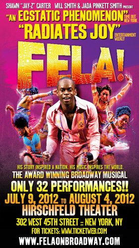 FELA! returns to NYC for 32 performances this summer! Use code FELAART $ 20 will be donated to the Museum for African Art!