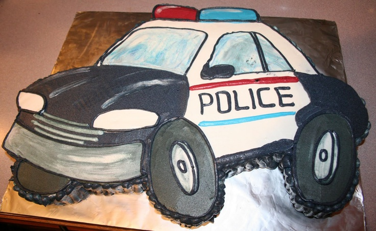 Police Car Cake: I think I could do this...