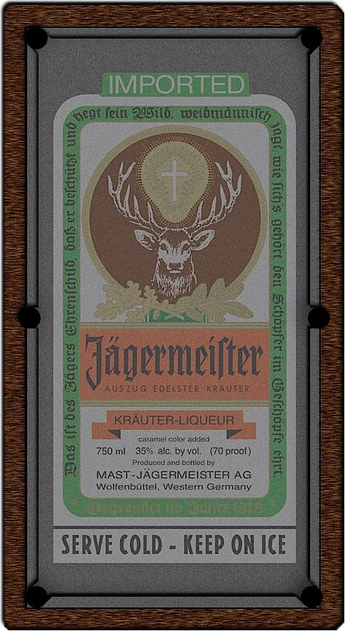 Jagermeister Pool Table Felt