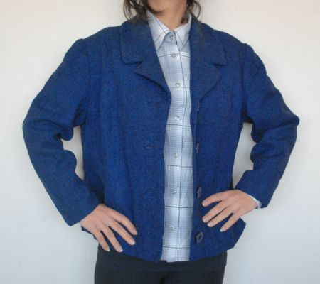 60'lar Gece Mavisi Ceket