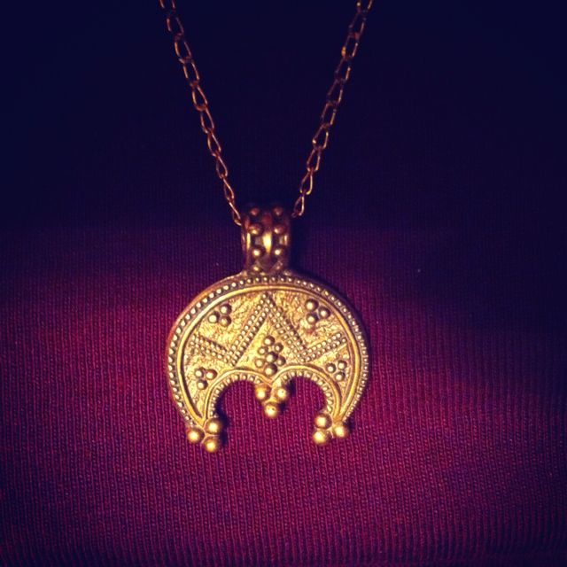 slavic guardian pendant, the moon symbol