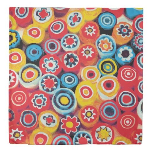 Millefiori Fine Abstract Floral Duvet Cover