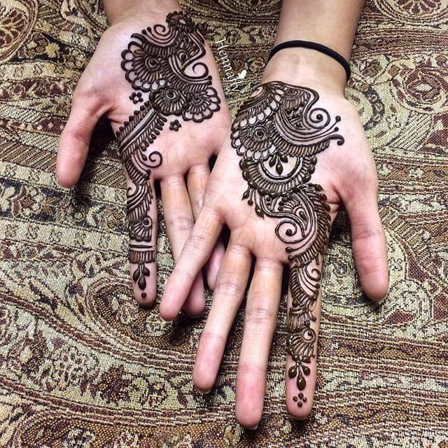 Modern Mehndi Designs Simple Arabic Front Hand
