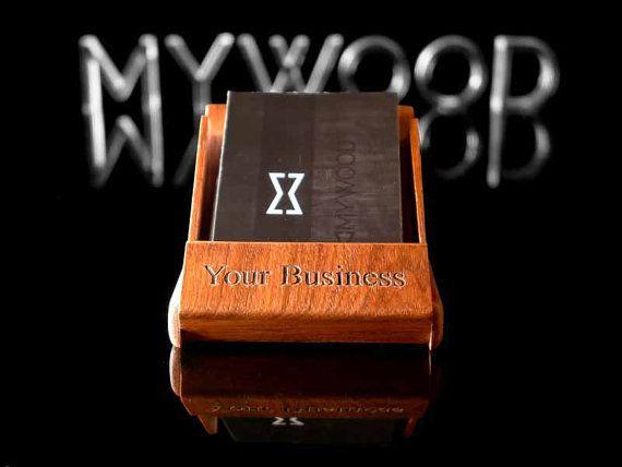 50 best mens business card holder images on pinterest business corporate gift engraved wooden business card stand personalized business card holder desk display colourmoves