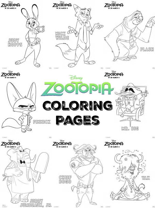 28 best Coloring Pages Zootopia images on Pinterest  Adult