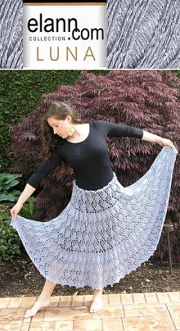 Free Pattern For Lace Skirt Knit from Elann.com ,