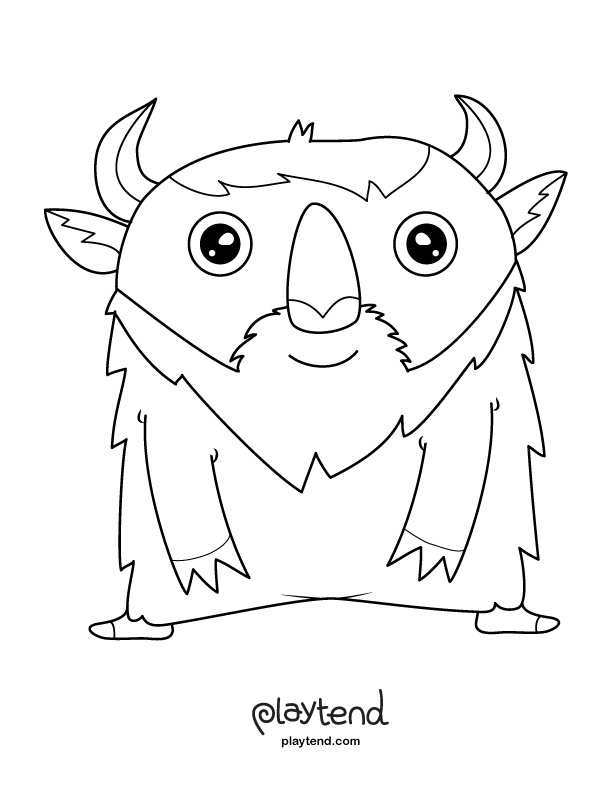 Monster Coloring Pages Plus Playtend Makes Awesome Phone Apps For Kids Check Them Out
