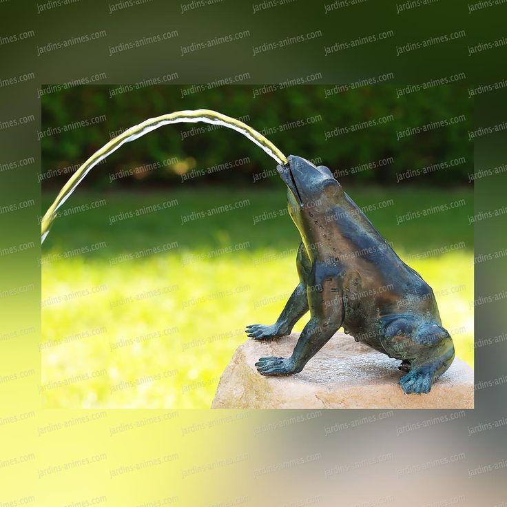 grenouille cracheur 5363 sculpture en bronze - Jet D Eau Pour Bassin Exterieur