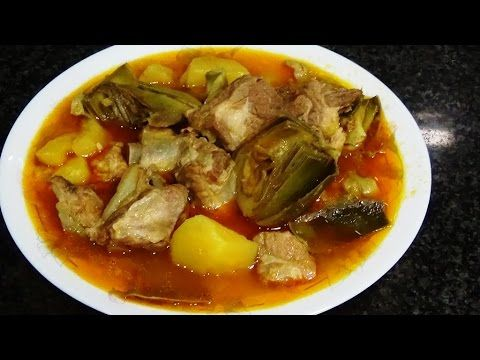 Alcachofas con Patatas Guiso - YouTube