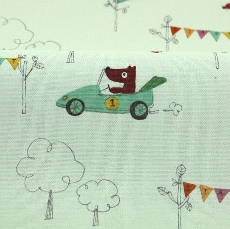 http://www.plushaddict.co.uk/japanese-import-racing-dogs-green-linen.html Japanese Import - Racing Dogs Green Linen - cotton fabric