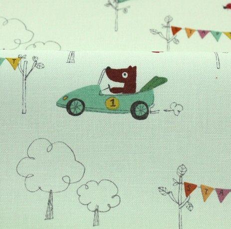 http://www.plushaddict.co.uk/japanese-import-racing-dogs-green-linen.html Japanese Import - Racing Dogs Green Linen - cotton fabric