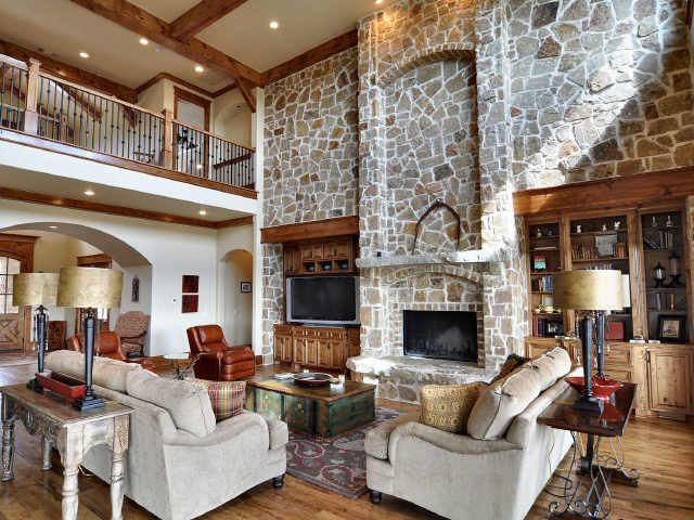 Texas Ranch Mansion Living Room Home Pinterest