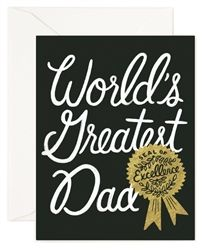 Celebrate your World's Greatest Dad with these Rifle Paper Co. cards designed by Anna Bond