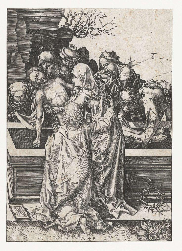 Martin Schongauer | De graflegging, Martin Schongauer, 1470 - 1490 | Christus…