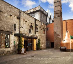 OLD JAMESON DISTILLERY -- DUBLIN -- Located on the site of the original Jameson's Distillery in Dublin. Guided walk through the recreated distillery scene and culminates in the Jameson Discovery Bar with a complimentary glass of Jameson.
