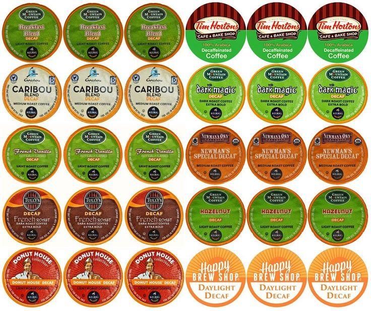 30count TOP BRAND DECAF COFFEE KCup Variety Sampler Pack