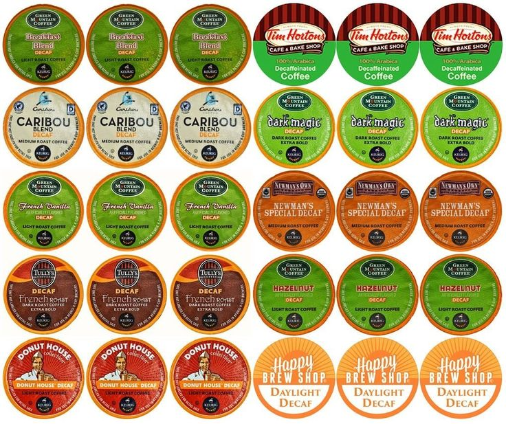 30-count TOP BRAND DECAF COFFEE K-Cup Variety Sampler Pack, Single-Serve Cups for Keurig Brewers => Additional details found at the image link  : Fresh Groceries