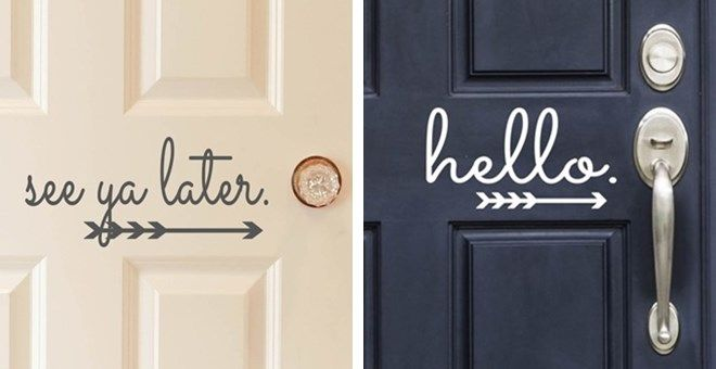 Vinyl Front Door Decals | 10 Designs!