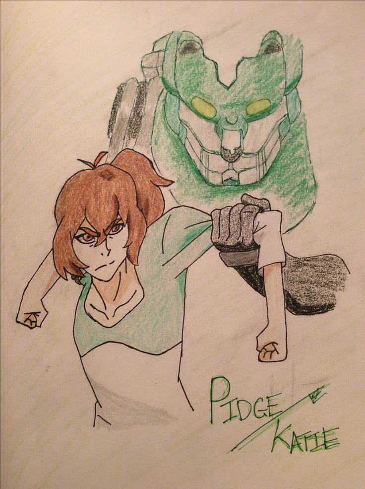 "Pidge and Green - by Em - ""Such a defining moment. Pidge/Katie needs a hug, badly."" << My friend made this and I may or may not be super proud"