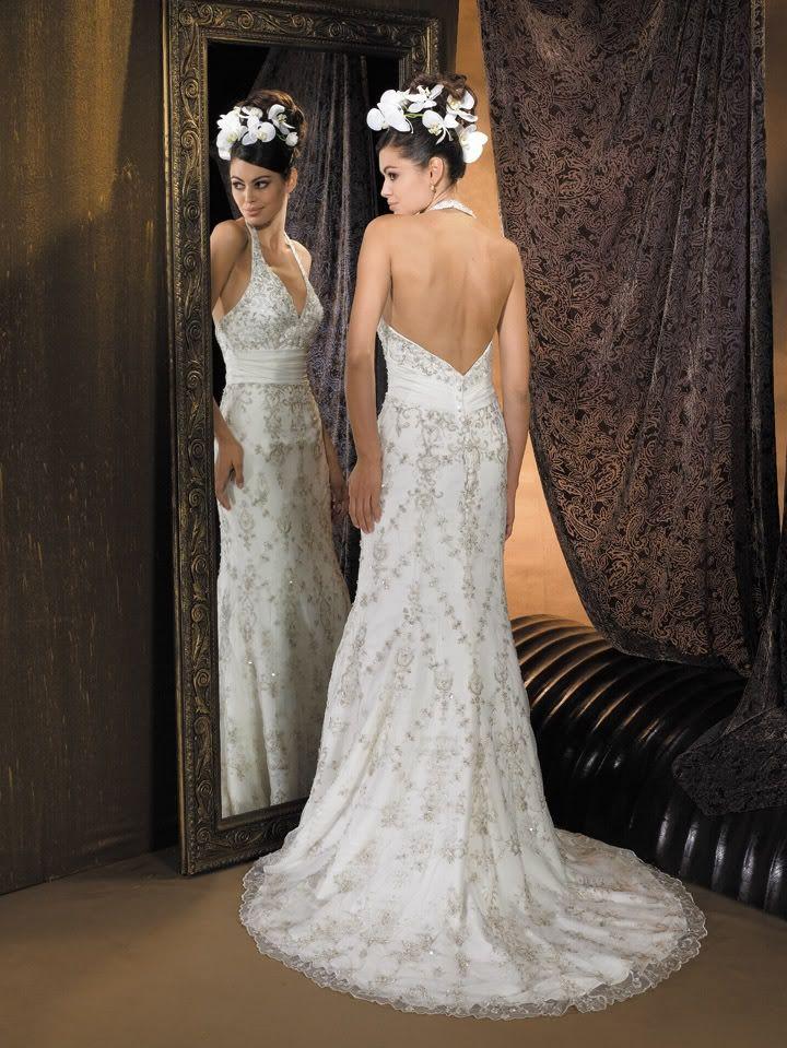 Свадебные платья с открытой спиной / фото 2017