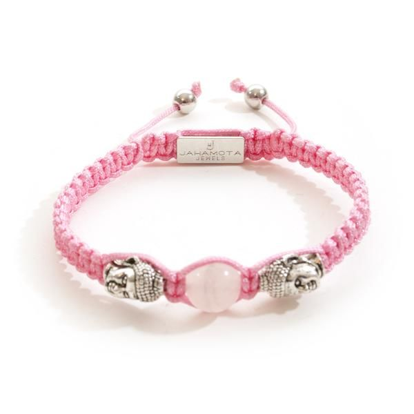 - Description - Material - More The Jahamota Avatar bracelet is made from a precious pink string knotted by using the traditional technique of macramé. The Austrian jewelry label combines unique tradi