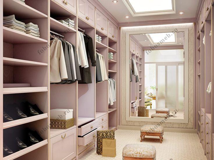 На фото: Открытый гардеробный шкаф