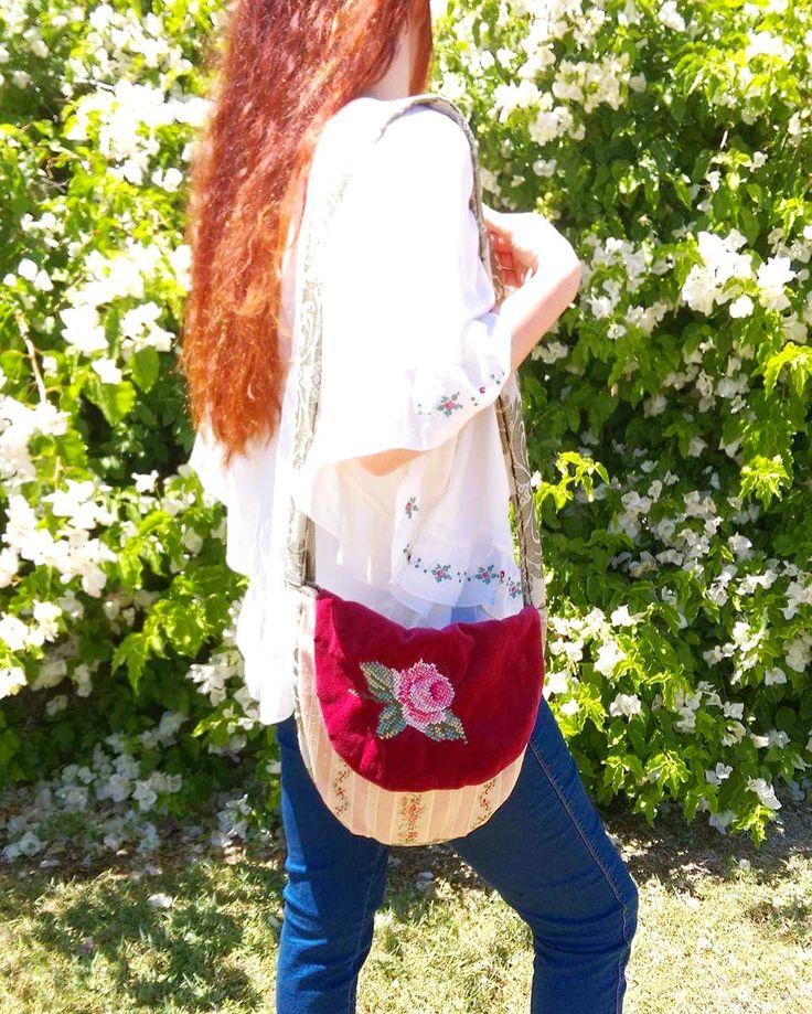 Bag Bohemian Fabric Carpet Velvet Gypsy Boho