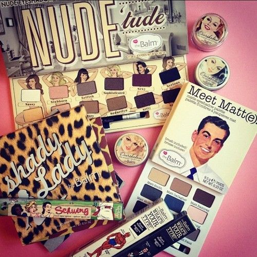 the balm makeup is so cute and super pigmented, super blend able...favorite brand ever!