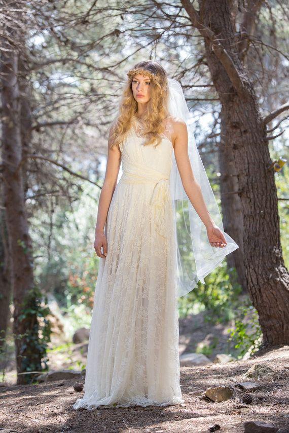 Vestido romántico vestido novia encaje vestido escote por mimetik