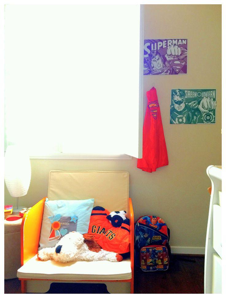 Super Hero Metal Prints Superman And Green Lantern Pkolino Convertible Toddler Bed