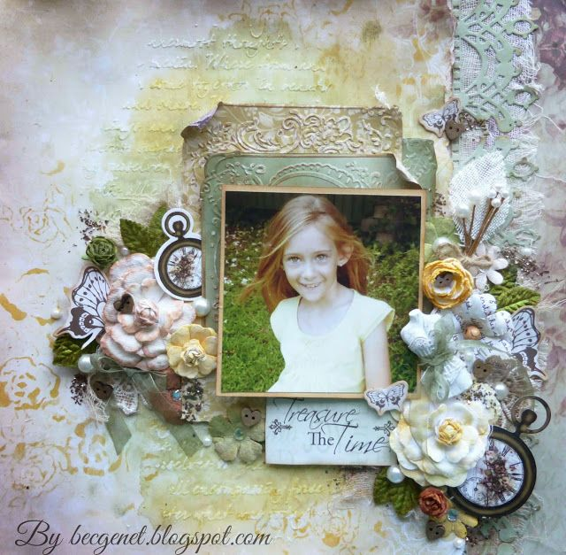 Couture Creations: Time to Treasure Layout & Video by Guest Designer Bec Genet #couturecreationsaus #decorativedies #scrapbooking