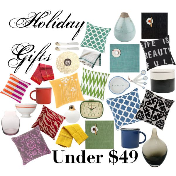 """Holiday Gifts Under $49"" by smartfurniture on Polyvore"