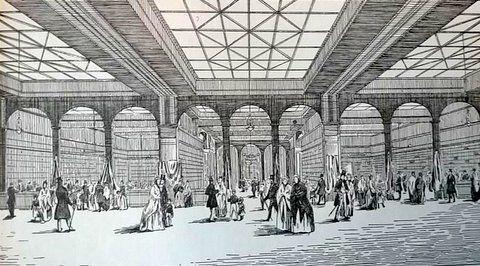 1843 le magasin a la ville de paris 174 rue montmartre le premier grand magasin fut le tapis. Black Bedroom Furniture Sets. Home Design Ideas