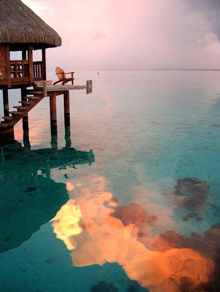 sunset swimSunsets Swimming, Buckets Lists, Beautiful, Sea, Travel, Places, Borabora, Heavens, Beach Trips