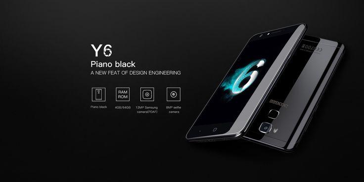 Doogee Y6 Piano Black 4G Phablet
