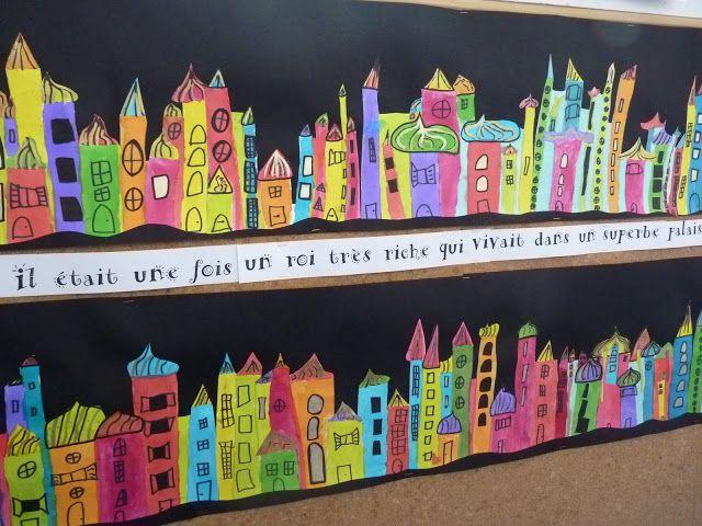 Crayons, gommes et papotages...: A la manière du peintre architecte Hundertwasser ...