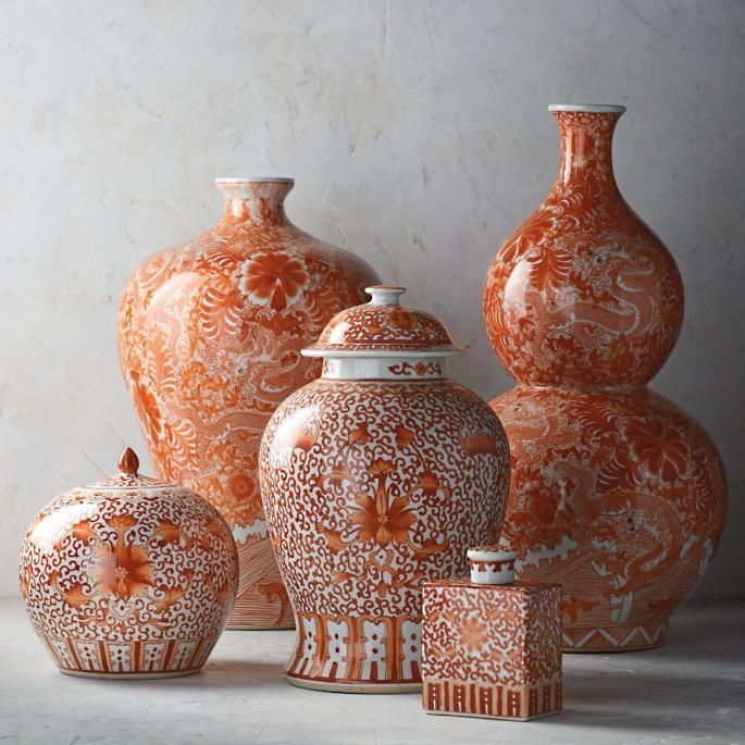 Coral And White Chinoiserie Ceramic Collection Casual Home Decor Asian Home Decor Creative Home Decor