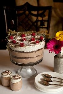 Ritz Carlton Chocolate Flourless Cake & Chocolate Chantilly Trifle