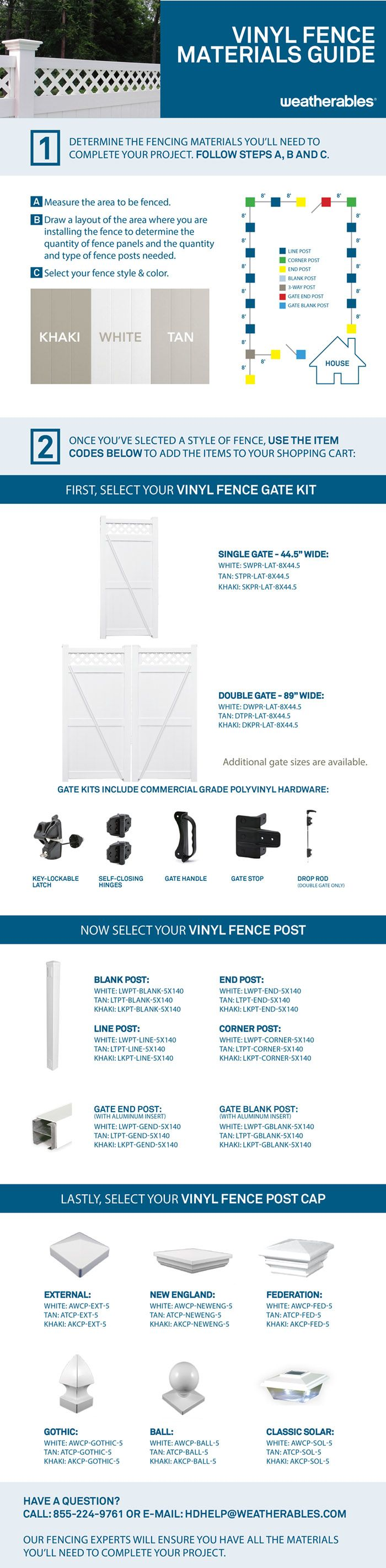 Weatherables Ashton 8 ft. H x 8 ft. W White Vinyl Privacy Fence Panel-PWPR-LAT-8X8 - The Home Depot
