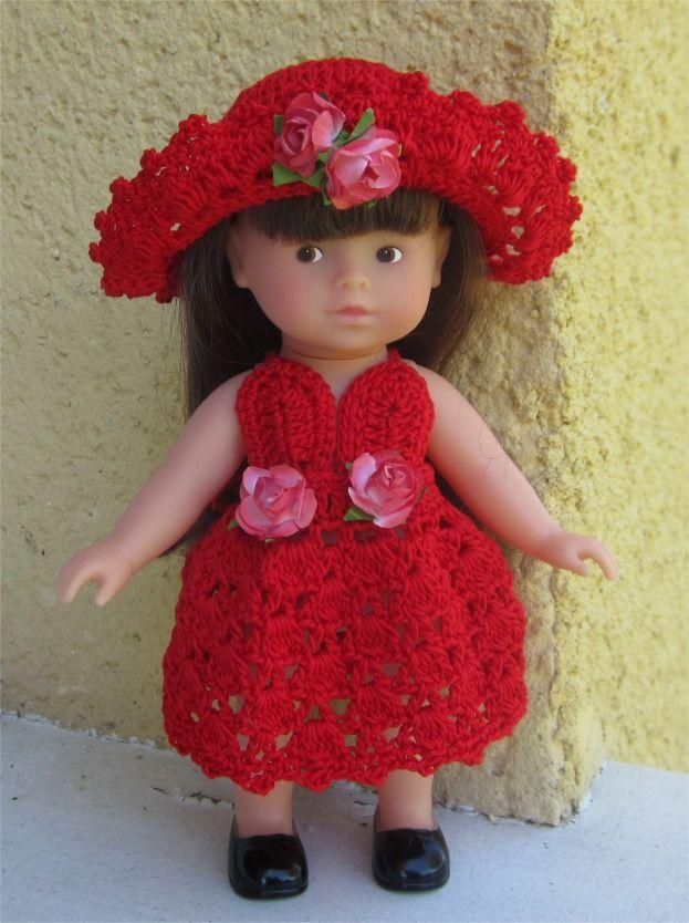 90- FICHE PATRON Tenue Reine des fleurs au crochet pour poupée Mini Corolline : Jeux, jouets par atelier-crochet