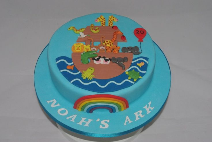 Noahs Ark Cake, with a few tweeks, baby shower cake maybe?
