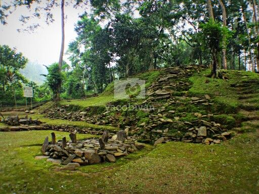Cibalay megalithic site, giant shrine of Mt. Halimun national park.