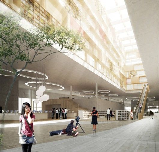schmidt hammer lassen architects-Ningbo Central Library